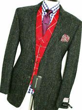 BNWT MENS BENVENUTO GREY DONGAL HARRIS TWEED SUIT JACKET BLAZER 48R EUR 58R