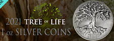 2021 - 1OZ PURE .999 SILVER TREE of LIFE COIN NEW ZEALAND MINT - IN STOCK!!