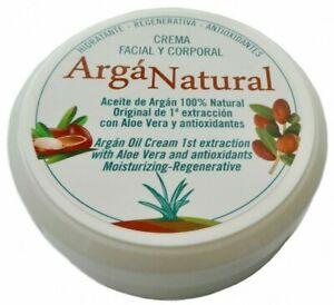 Arga Natural Anti-ageing Face Cream Creme Aloe Argan Oil Eczema Stretch 140 ml