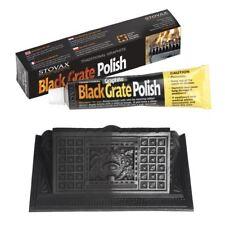 Black Graphite Grate Polish Stove Cast Iron BBQ Fire Basket Wood Burner Zebo