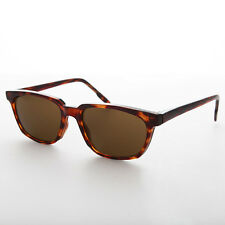 Horn Rim Brown Beatnik Mod 1950s Classic Vintage Sunglass Brown Lens -Ronnie