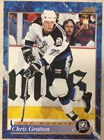 CHRIS GRATTON 1993-94 Score Hockey French  #596 Top Rookie Card RC LIGHTNING