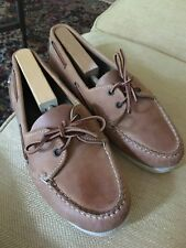 COLE HAAN Boat Shoes/Loafers 10.5 Men's tan leather  made in BRAZIL
