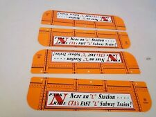 MARX TRAINS 5584 CTA URBAN EL LITHO BRIDGE SIDES 4PC X7007