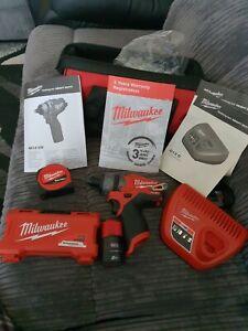 Milwaukee M12CD  12v Screwdriver Kit tape measure 2Ah Battery & Charger  in Bag