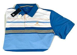 Adidas Turtle Bay Golf Hawaii Short Sleeve Polo Shirt Blue 2xl 2 Extra Large