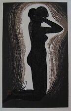 "Kaoru Kawano: Original Japanese Woodblock Print ""Twilight"" oban - posthumous"