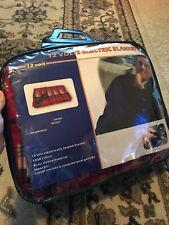 12 volt electric blanket Red Fleece