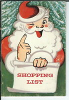AX-085 Union National Ban Christmas Shopping Notebook, Santa Claus Vintage 1964