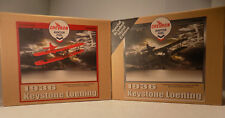 2 PC 1936 KEYSTONE LOENING  Chevron Painted and Brushed Metal Editions NOS MIB