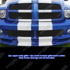 Fits 2004-2005 Dodge Ram SRT 10 Black Billet Grille Combo