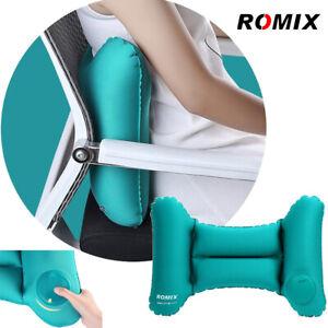Air Inflatable Pillow Waist Support Travel Plane Chair Car Rest Bolster Cushion