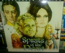 Spirits of the Dead WS Rare LaserDisc Bardot Fonda Horror Fast shipping!