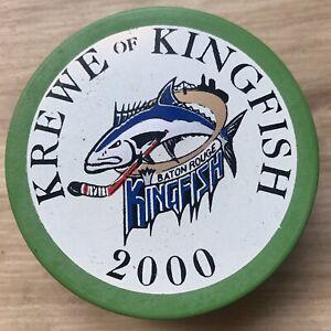 BATON ROUGE KINGFISH ECHL HOCKEY PUCK 2000 KREWE OF KINGFISH MADE IN USA 🇺🇸