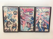 LOT of 3 X-Men Animated Cartoon VHS Tapes Magneto , Sentinels... Vintage 1990's