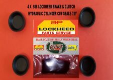 """586  4 NEW LOCKHEED  WHEEL CYLINDER CUP SEALS 7/8"""" DIA. PLUS RUBBER GREASE."""