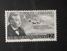 REPUBBLICA 1955 GIOVANNI PASCOLI  MNH**.
