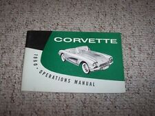 1960 Chevrolet Corvette Original Owner's Owners Manual Coupe Convertible 4.6L V8