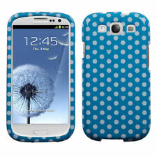 For Samsung Galaxy S III 3 HARD Protector Case Snap On Phone Cover Blue Dots