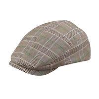 Fashion Plaid Ivy Cap - Brown