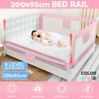 2M Baby Toddler Safety Bed Rail Adjustable Kid Cot Side Guard Barrier Protection