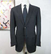 Ermenegildo Zegna Traveller Micronsphere Wool grey brun striped sports coat 42 R
