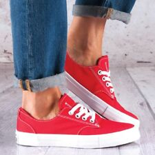 Men's Womens CONVERSE All Star DERBY OX Canvas RED Trainers Shoes 41 UK SIZE 7.5