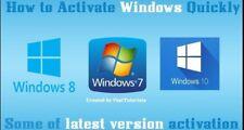 Windows Activate, lifetime license, Vista, Seven, 7, 8, 10, 10.1 - 32/64bit