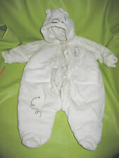 Classic Winnie the Pooh Cream Snow Suit 3 - 6 months Disney Baby Winter Outfit