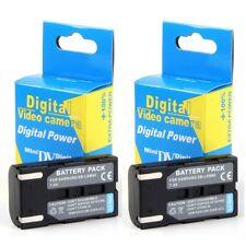 2x Baterías SB-LSM80 SBLSM80 800mAh para Samsung SC-D366 VP-D353i VP-D963