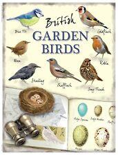 British Garden Birds small steel sign   200mm x 150mm (og)