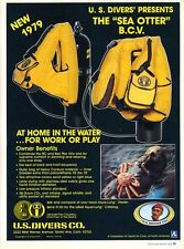 1979 US Divers Co Sea Otter BCV Bac Pac SCUBA Diving PRINT AD T