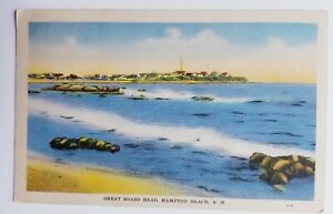 HAMPTON BEACH, NH- GREAT BOARS HEAD- ANTIQUE- 1937 PORTSMOUTH POST
