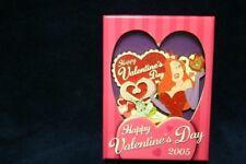 Disney 2005 Jessica And Roger Rabbit Happy Valentines Day Pin Large Mib