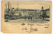AK Rijeka, Fiume, Via del Molo, 1900