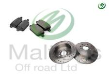 range rover evoque drilled + grooved rear brake discs + pads evoque performance