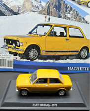 MODELLINO AUTO FIAT 128 RALLY RALLYE 1:43 DIECAST CAR MODEL MINIATURE METALLO
