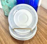 Set Of SEVEN! Vintage Seyei Fine China SILVER WHEAT #3282 Saucers