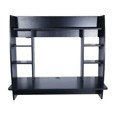 Coner Desk Floating Wall Mounted Computer Laptop Table Bookshelf Storage Black