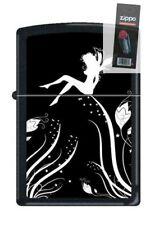 Zippo 0243 midnight fairy magic black matte DISCONTINUED Lighter + FLINT PACK