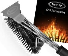"""Grill Brush & Scraper-Great BBQ Grill Cleaning Brush 18"""" Stainless with Scraper"""