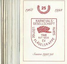 12x Festschrift Karnevalsgesellschaft Löstige Flägelskappe (Köln) Sürth Rot-Weiß