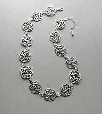 Celtic pattern collar necklace .. statement knot work elegant glam jewellery