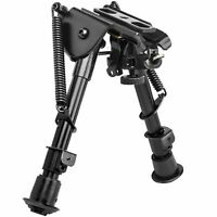 "NcSTAR ABPGC/2 Harris Style Rifle Compact Notched  5.5"" - 8"" Bipod w/ Adapters"