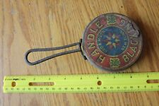 Handle Blacking Tin & cast iron New York Vintage Antique Advertising pan Shaped