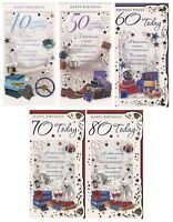 TALL MALE 40TH 50TH 60TH 70TH 80TH  BIRTHDAY CARDS WITH GREAT VERSES 1ST P&P