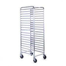 20 Pan Commercial Aluminum End Load Restaurant Bakery Bun / Sheet Pan Speed Rack