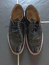 """Paul Smith Homme Cuir Verni """"Grand Chaussures RRP £ 320 UK 9 excellent état"""