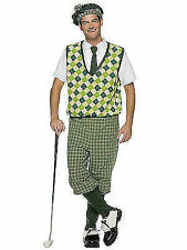 Adult Old Tymer Golfer Knickers Beret 4 PC Halloween Costume Gc7166