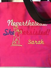 Free personalizing! NEW machine embroidered tote